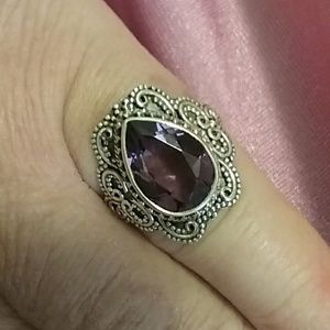 NaturalAmethyst Gemstone Ring, Size 8